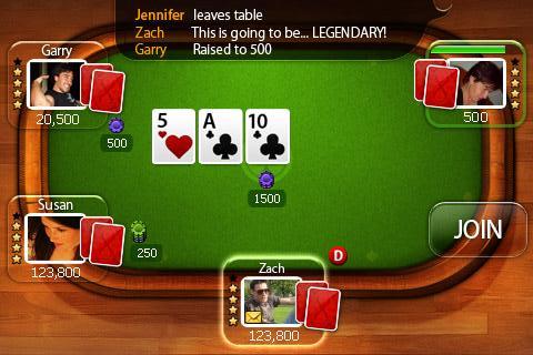 Immagine della schermata di un video poker online