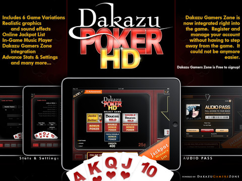 Dakazu Poker HD - Video Poker App